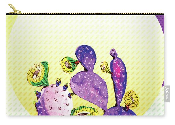Pop Cacti - Purple Yellow Carry-all Pouch