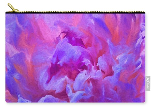 Pop Pink Peony Carry-all Pouch