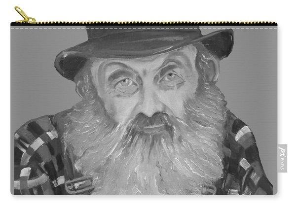 Popcorn Sutton Moonshiner Bust - T-shirt Transparent B And  W Carry-all Pouch