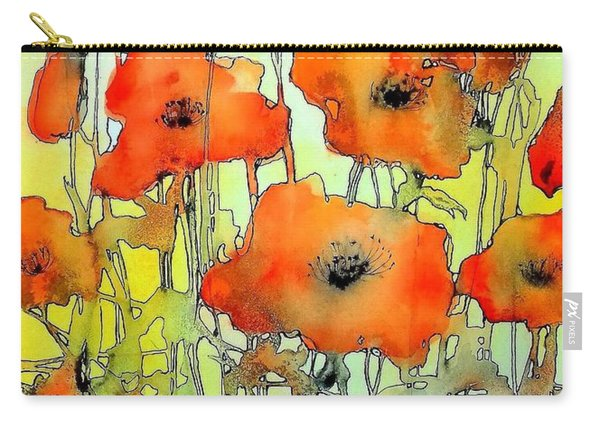 Poppies Abstraction Carry-all Pouch
