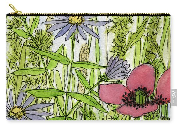 Poppies And Wildflowers Carry-all Pouch