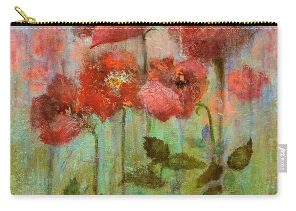 Poppies In Pastel Watercolour Carry-all Pouch