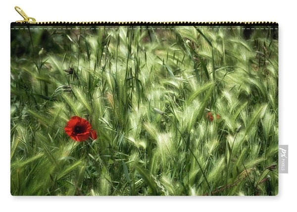 Poppies In Wheat Carry-all Pouch
