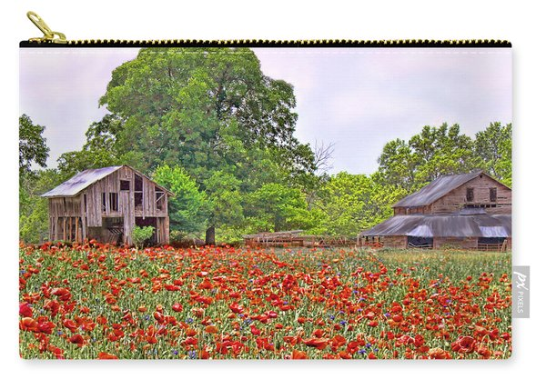Poppies On The Farm Carry-all Pouch