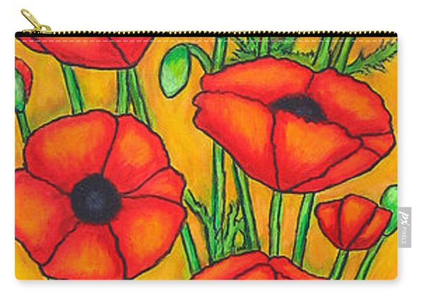 Poppies Under The Tuscan Sun Carry-all Pouch