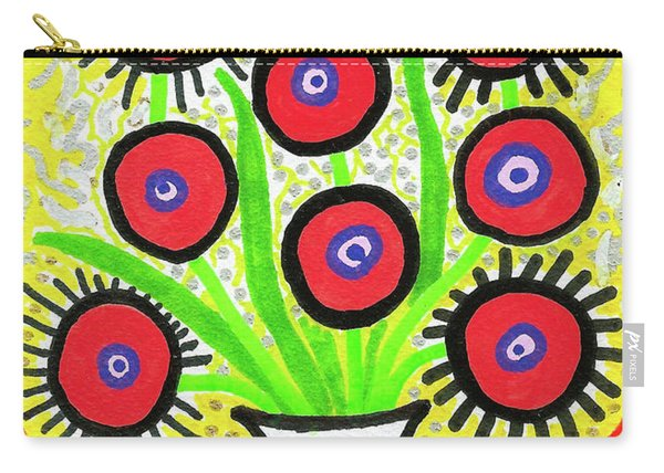 Poppin' Red Poppies Carry-all Pouch