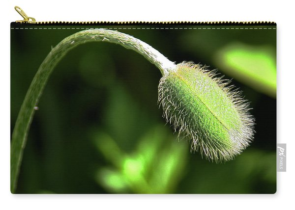 Poppy Bud In Sunlight Carry-all Pouch