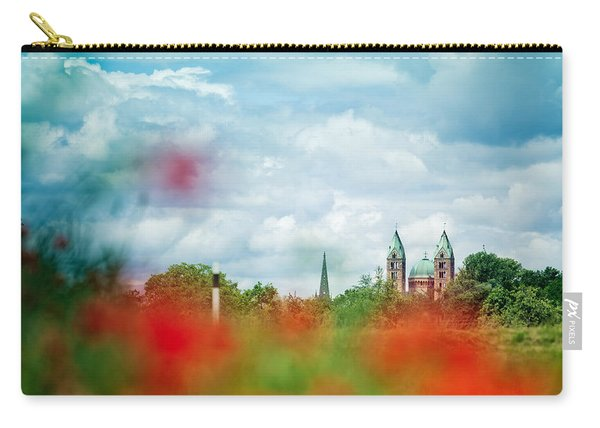 Poppy Field And Speyer Cathedral Carry-all Pouch