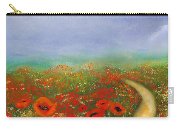 Poppy Field Impressions Carry-all Pouch