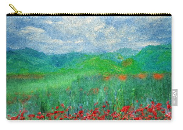 Poppy Meadows Carry-all Pouch