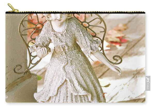 Porch Angel In The Fall Carry-all Pouch