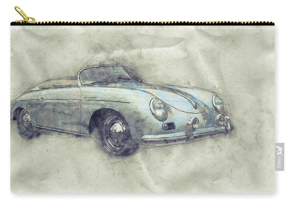 Porsche 356 - Luxury Sports Car 1 - 1948 - Automotive Art - Car Posters Carry-all Pouch