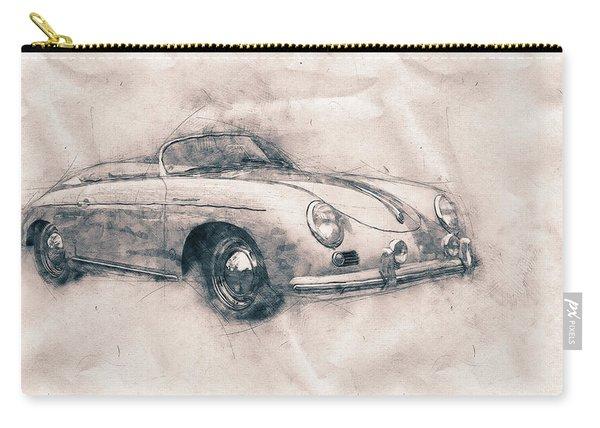Porsche 356 - Luxury Sports Car - 1948 - Automotive Art - Car Posters Carry-all Pouch