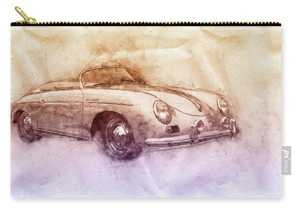 Porsche 356 - Luxury Sports Car 2 - 1948 - Automotive Art - Car Posters Carry-all Pouch