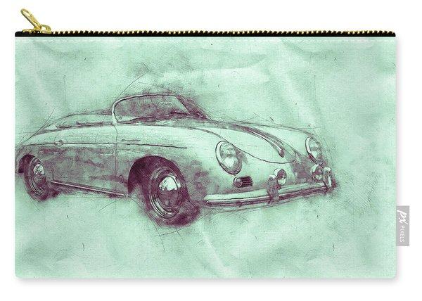 Porsche 356 - Luxury Sports Car 3 - 1948 - Automotive Art - Car Posters Carry-all Pouch