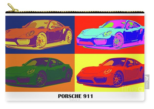 Porsche 911 2017, Colorful Warhol Style Carry-all Pouch