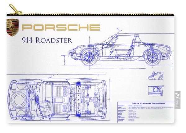 Porsche 914 Blueprint Carry-all Pouch