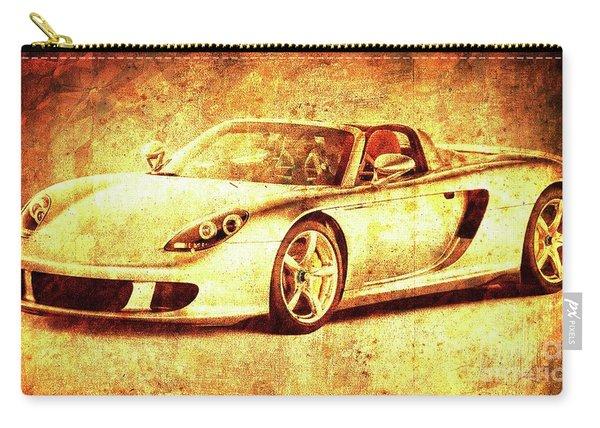 Porsche Golden Artwork, Gift For Men, Men Office Decoration Carry-all Pouch