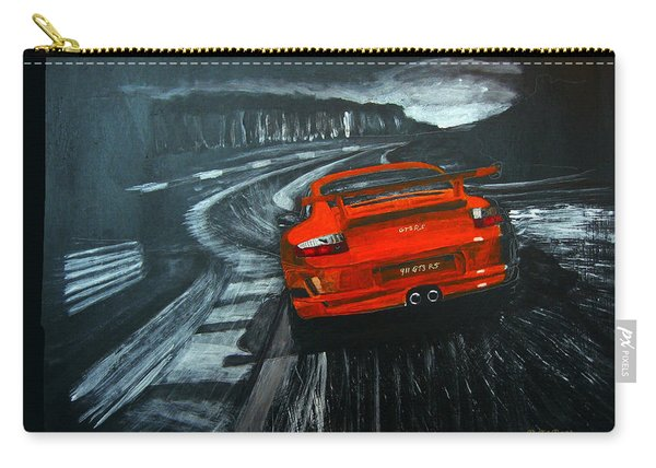 Carry-all Pouch featuring the painting Porsche Gt3 Le Mans by Richard Le Page