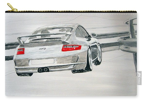 Carry-all Pouch featuring the painting Porsche Gt3 by Richard Le Page