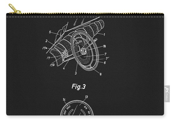 Porsche Steering Wheel Patent Carry-all Pouch