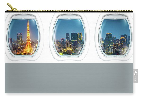 Porthole Frame On Tokyo Tower Carry-all Pouch