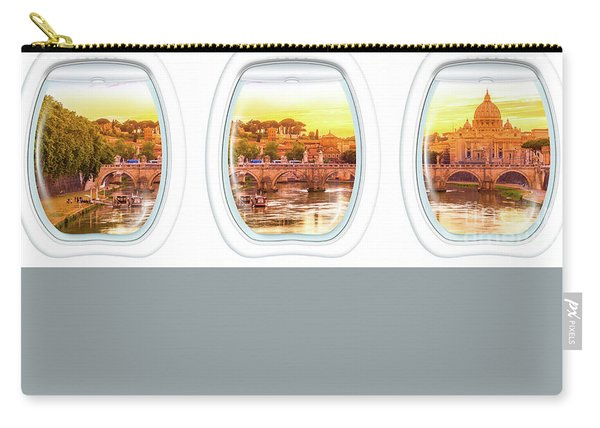 Porthole Windows On Rome Carry-all Pouch