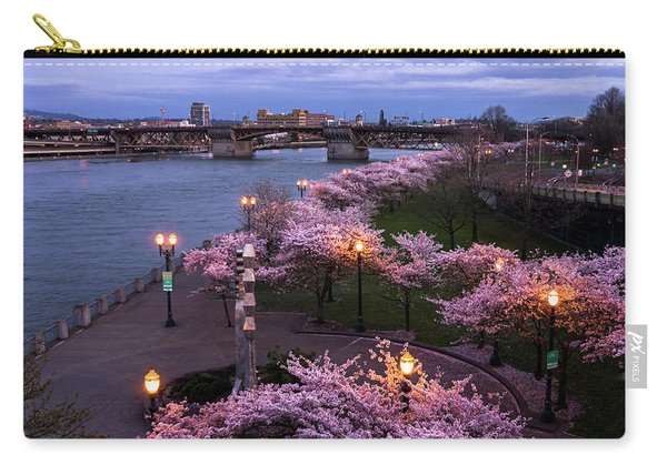 Portland Cherry Blossoms Carry-all Pouch