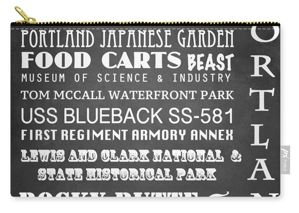 Portland Famous Landmarks Carry-all Pouch