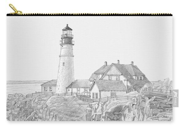 Portland Head Light Drawing Carry-all Pouch