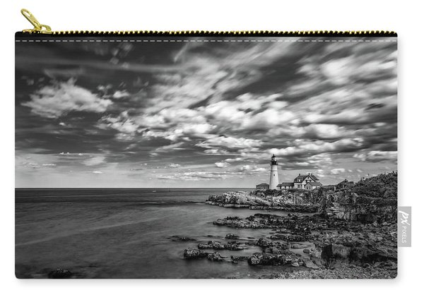 Portland Head Light In Black And White Carry-all Pouch