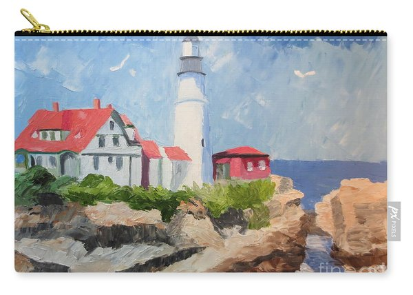 Portland Headlight By The Sea Carry-all Pouch