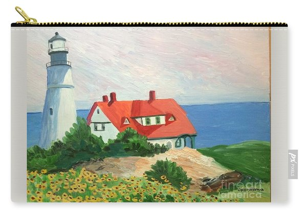 Portland Headlight With Brown Eyed Susans Carry-all Pouch
