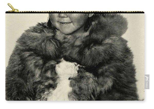 Portrait Girl Child Smith Sound Eskimo Tribe North Greenlan Carry-all Pouch