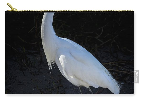 Portrait In White Carry-all Pouch