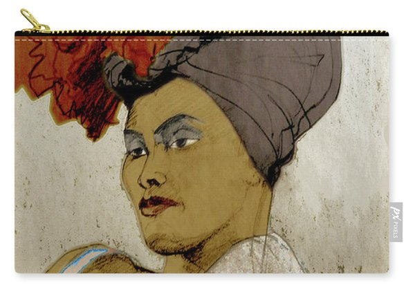 Portrait Of A Caribbean Beauty Carry-all Pouch
