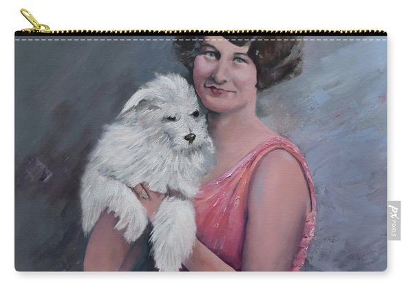 Maggie And Caruso -portrait Of A Flapper Girl Carry-all Pouch