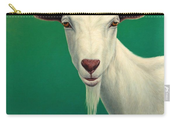 Portrait Of A Goat Carry-all Pouch