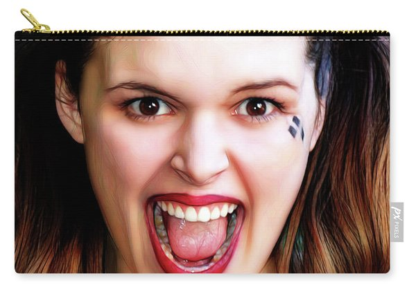 Portrait Of A Harlequin Carry-all Pouch
