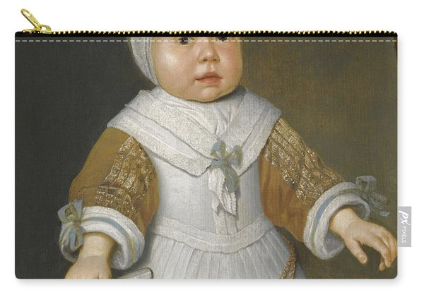 Portrait Of A One-year-old Girl Of The Van Der Burch Family Three-quarter Length Carry-all Pouch