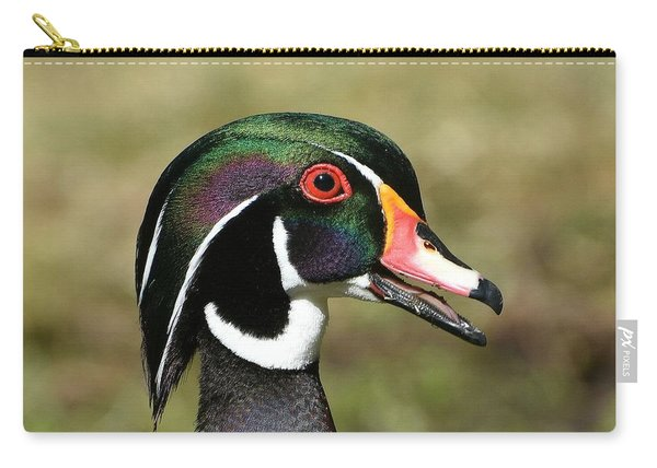 Portrait Of A Wood Duck Carry-all Pouch