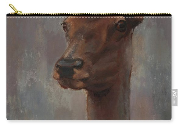 Portrait Of A Young Doe Carry-all Pouch