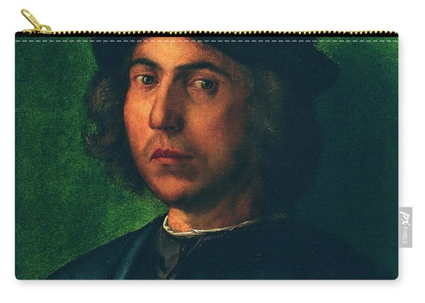 Portrait Of A Young Man Carry-all Pouch