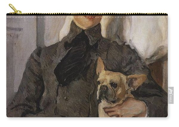 Portrait Of Count Felix Sumarokov - Elston Later Prince Yusupov With A Dog 1903 Valentin Serov Carry-all Pouch