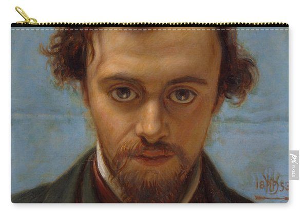 Portrait Of Dante Gabriel Rossetti At 22 Years Of Age Carry-all Pouch