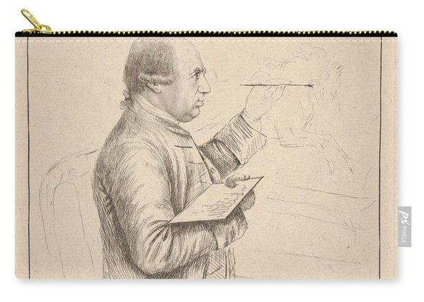 Portrait Of George Stubbs By James Bretherton Carry-all Pouch