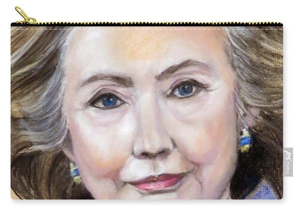 Pastel Portrait Of Hillary Clinton Carry-all Pouch