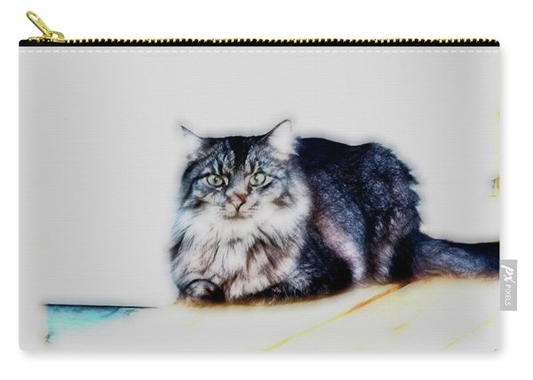 Portrait Of Maine Coon, Mattie Carry-all Pouch