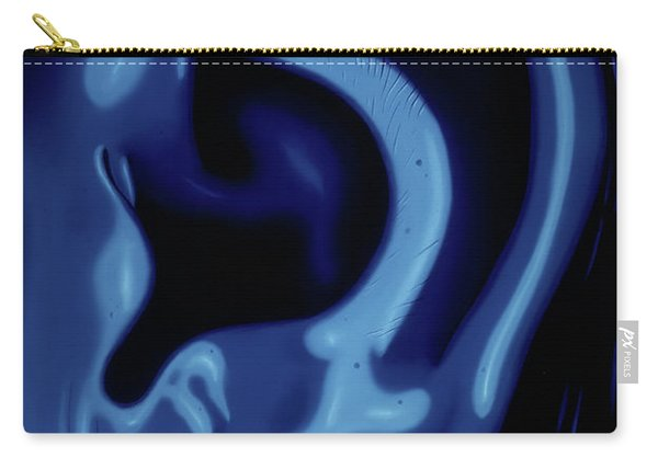 Portrait Of My Ear In Blue Carry-all Pouch