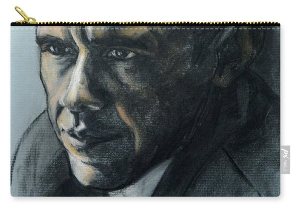 Charcoal Portrait Of President Obama Carry-all Pouch